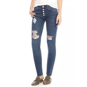 🆕Free People Button Fly Destroyed Reagan Jeans